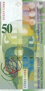 50 Francs (8th series) – reverse