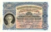 100 Francs (2nd series, type 1) – obverse