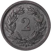 2 Rappen (zinc) – reverse