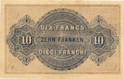 10 Francs - Federal Treasury (French text) – reverse
