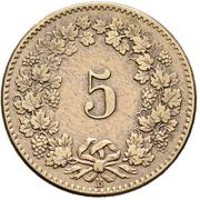 5 Rappen (coat of arms) – reverse