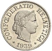 10 Rappen (Libertas; nickel) – obverse