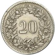 20 Rappen (coat of arms) – reverse