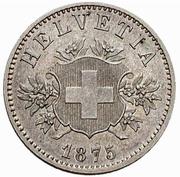 20 Rappen (Coat of arms; copper-nickel; trial) – obverse