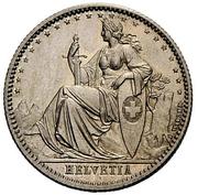 20 Rappen (Helvetia; copper-nickel; pattern) – obverse