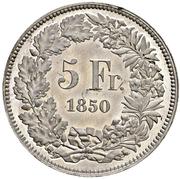 5 Francs (Helvetia seated; trial; zinc) – reverse