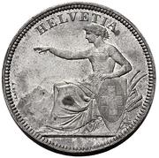 5 Francs (Helvetia seated; piedfort; lead) – obverse
