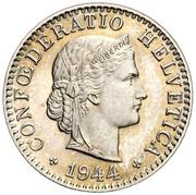 20 Rappen (Libertas; copper-nickel) -  obverse