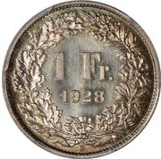 1 Franc (Helvetia standing; nickel; trial) – reverse