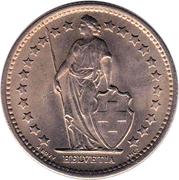 ½ Franc (Helvetia standing; copper-nickel) – obverse