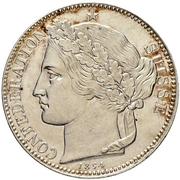 2 Francs (Silver; pattern) – obverse