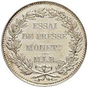 2 Francs (Silver; pattern) – reverse