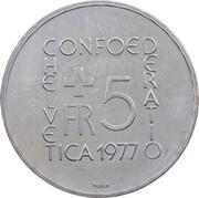 5 Francs (Johann Heinrich Pestalozzi) -  obverse