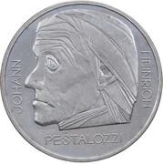 5 Francs (Johann Heinrich Pestalozzi) -  reverse