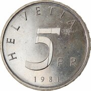 5 Francs (Treaty of Stans) -  obverse