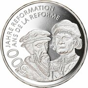 20 Francs (500 years of reformation) -  obverse