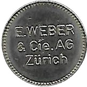 Token - E. Weber (Zürich) – obverse