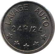 Car Wash Token - Lavage Auto – reverse