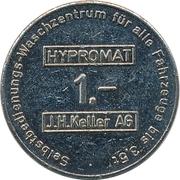 Car Wash Token - Hypromat (J.H. Keller; Zürich) – reverse