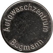 Car Wash Token - Autowaschzentrum Bugmann – obverse