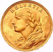 "20 Francs ""Vreneli"" (AD LEGEM ANNI MCMXXXI) -  obverse"
