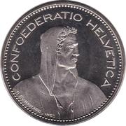 5 Francs (Herdsman; copper-nickel; incuse edge) -  obverse