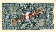 1 Franc - State Loan Bank (reserve banknote) -  reverse