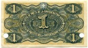 1 Franc - State Loan Bank (reserve banknote) – reverse
