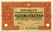 2 Francs - State Loan Bank (reserve banknote) – obverse