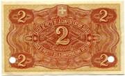 2 Francs - State Loan Bank (reserve banknote) – reverse