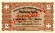2 Francs - State Loan Bank (reserve banknote) -  obverse