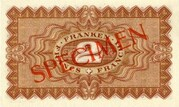 2 Francs - State Loan Bank (reserve banknote) -  reverse