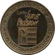 Jeton Touristique - Monnaie de Paris - Loto Jura Passion - 10 ans ça se fête -  obverse