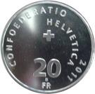 20 Francs (Pilatus Railway) – reverse