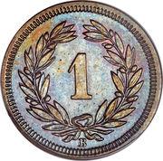 1 Rappen (Wreath; bronze) -  obverse