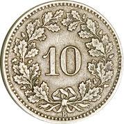 10 Rappen (coat of arms) – reverse