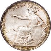 ½ Franc (Helvetia seated) – obverse