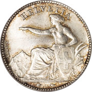 1 Franc (Helvetia seated; 90% silver) -  obverse