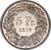 5 Francs (Helvetia seated) -  reverse