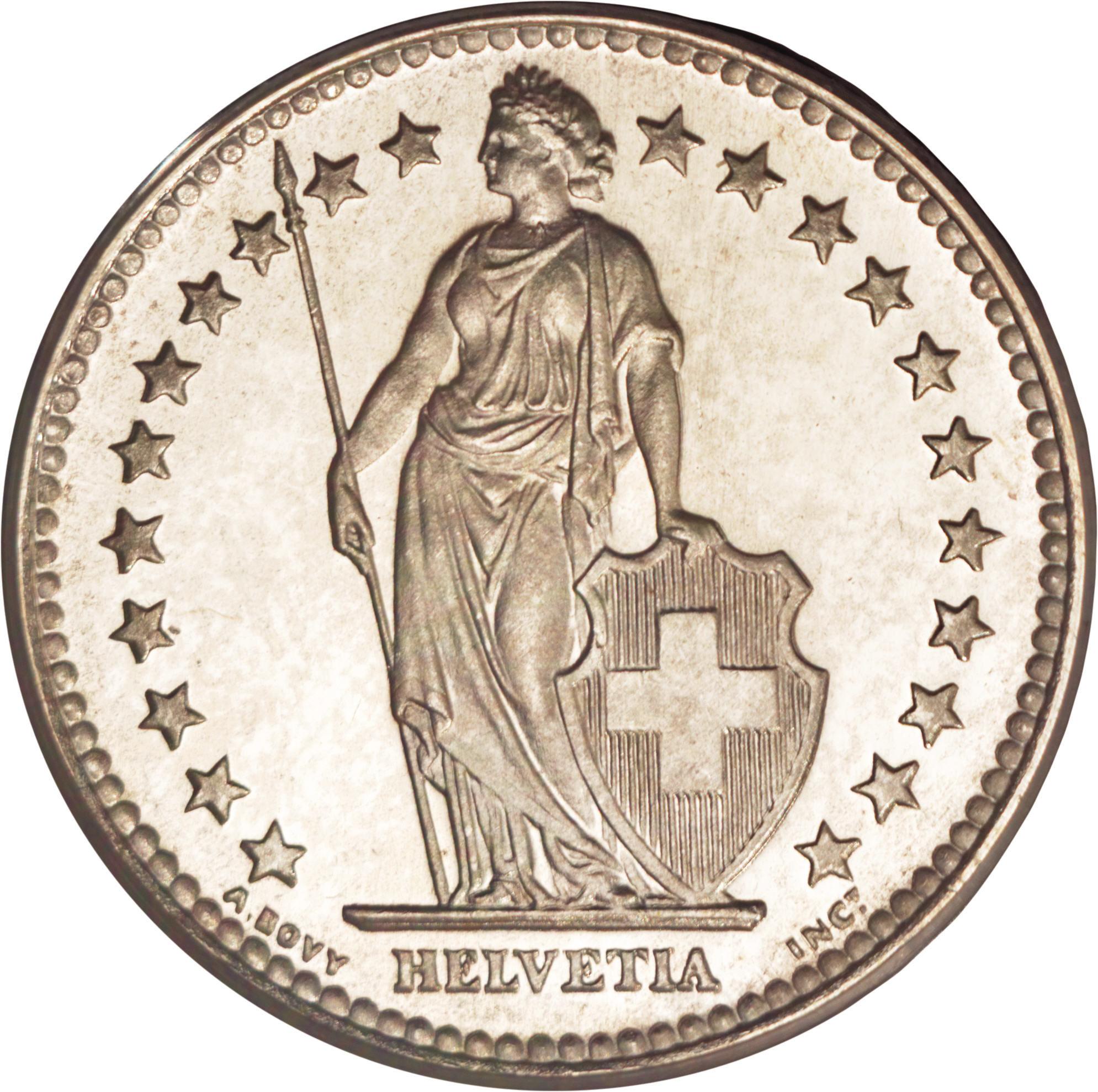 2 francs switzerland numista