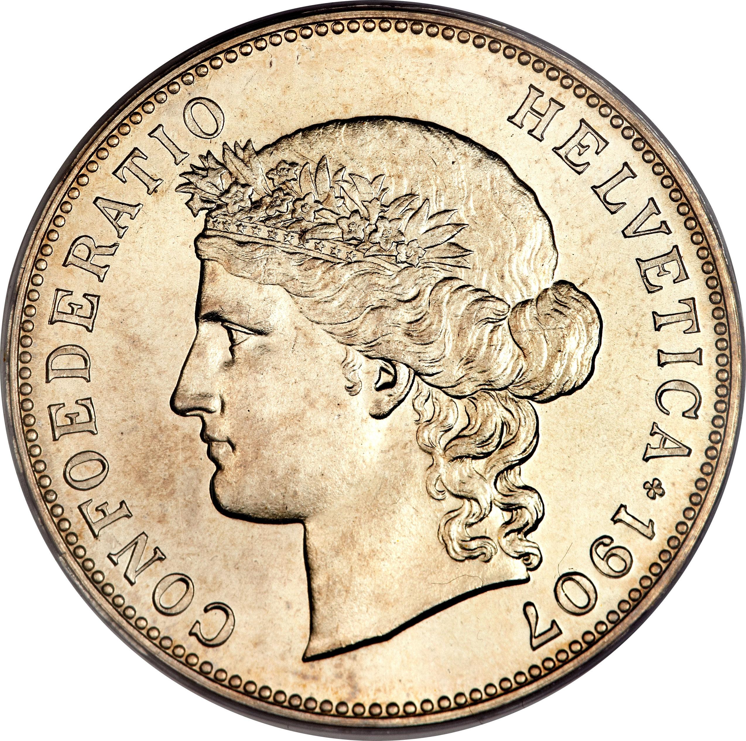 confoederatio helvetica coin 5