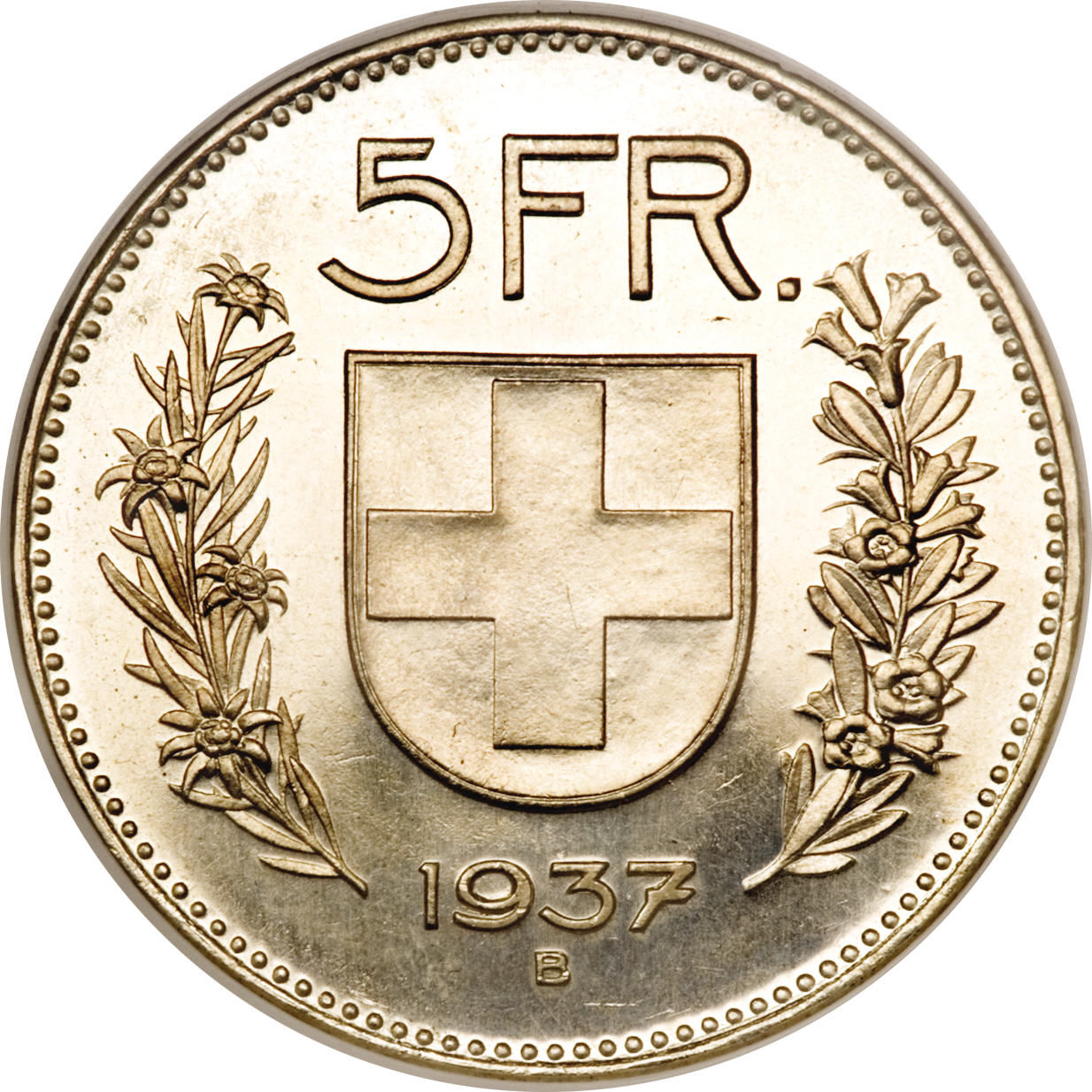5 Francs Silver Issue Small