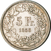 5 Francs (Shooting Festival) – reverse