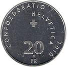 20 Francs (Bernina Railway) – reverse