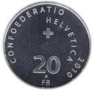 20 Francs (Henri Dunant) – reverse