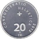 20 Francs (Jungfrau Railway) – reverse