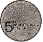 5 Francs (Olympics) -  reverse