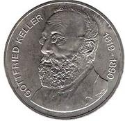 5 Francs (Gottfried Keller) -  obverse