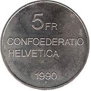 5 Francs (Gottfried Keller) -  reverse