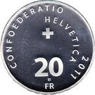 20 Francs (Max Frisch) – reverse